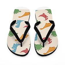 Dinosaur Print Flip Flops