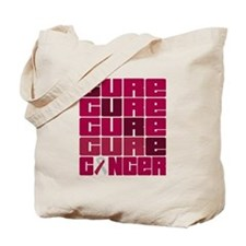 CURE Head Neck Cancer Collage Tote Bag
