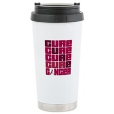 CURE Head Neck Cancer Collage Travel Mug