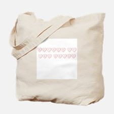 """Mother of the Bride"" Hearts Tote Bag"