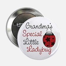 """Grandma's Ladybug 2.25"""" Button"""
