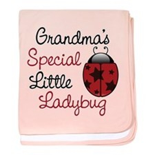 Grandma's Ladybug baby blanket