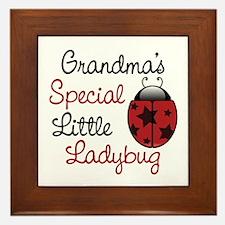 Grandma's Ladybug Framed Tile