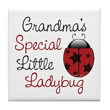 Grandma's Ladybug Tile Coaster