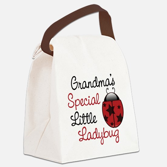 Grandma's Ladybug Canvas Lunch Bag