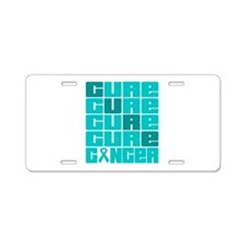 CURE Gynecologic Cancer Collage Aluminum License P