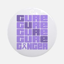 CURE General Cancer Collage Ornament (Round)