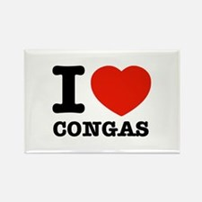 I Love Congas Rectangle Magnet