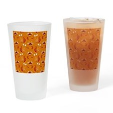 Orange Monsters Drinking Glass