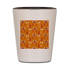 Orange Monsters Shot Glass