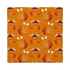 Orange Monsters Queen Duvet