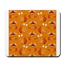 Orange Monsters Mousepad
