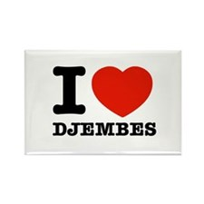 I Love Djembes Rectangle Magnet