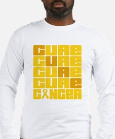 CURE Childhood Cancer Collage Long Sleeve T-Shirt