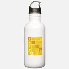 CURE Childhood Cancer Collage Water Bottle