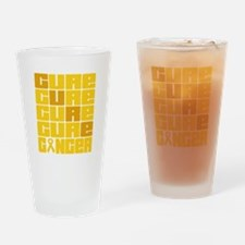 CURE Childhood Cancer Collage Drinking Glass