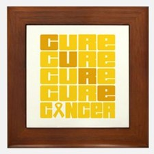 CURE Childhood Cancer Collage Framed Tile