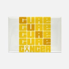 CURE Childhood Cancer Collage Rectangle Magnet