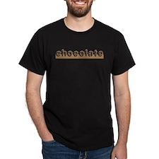 Chocolate Edge Black T-Shirt