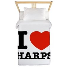 I Love Harps Twin Duvet