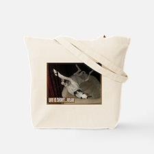 Roaching Greyhound Tote Bag