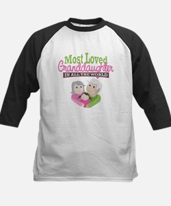 Most Loved Granddaughter Kids Baseball Jersey