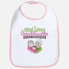 Most Loved Granddaughter Bib