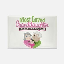 Most Loved Granddaughter Rectangle Magnet