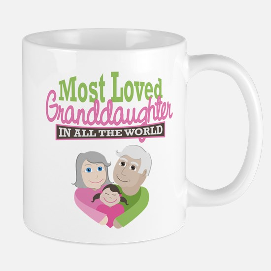 Most Loved Granddaughter Mug