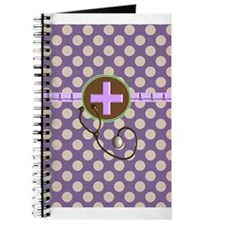 Medical polka dots purple.PNG Journal