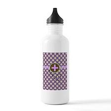 Medical polka dots purple.PNG Water Bottle
