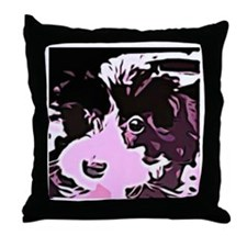 oreo the pup Throw Pillow