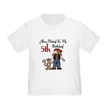 Pirate Party 5th Birthday T