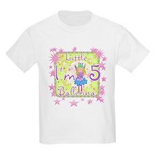 Little Ballerina 5th Birthday Kids T-Shirt