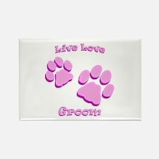Live Love Groom Rectangle Magnet