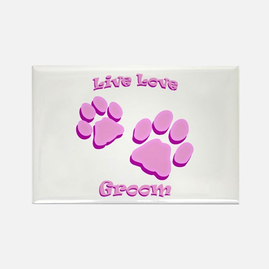 Live Love Groom Rectangle Magnet