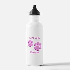 Live Love Groom Water Bottle