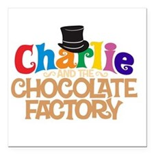 charlie and the chocholate factory Square Car Magn