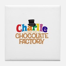 charlie and the chocholate factory Tile Coaster