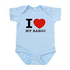 I Love Banjos Infant Bodysuit
