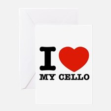 I Love My Cello Greeting Card