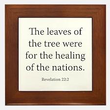 Revelation 22:2 Framed Tile