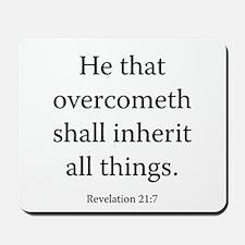 Revelation 21:7 Mousepad