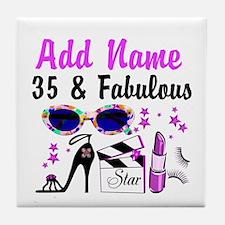 HAPPY 35TH BIRTHDAY Tile Coaster