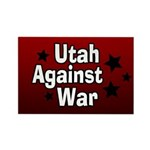 Utah Against War Rectangle Magnet