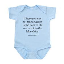 Revelation 20:15 Infant Bodysuit
