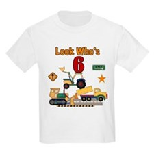 Construction 6th Birthday Kids T-Shirt