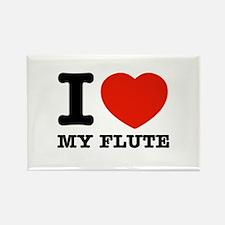 I Love My Flute Rectangle Magnet