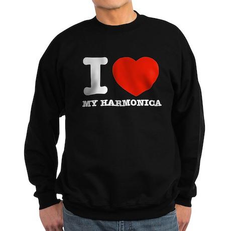 I Love My Harmonica Sweatshirt (dark)