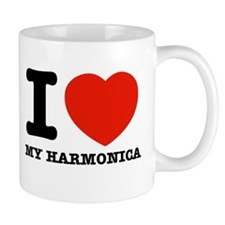 I Love My Harmonica Mug